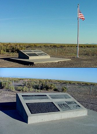 Topaz monument at the Topaz Camp Site